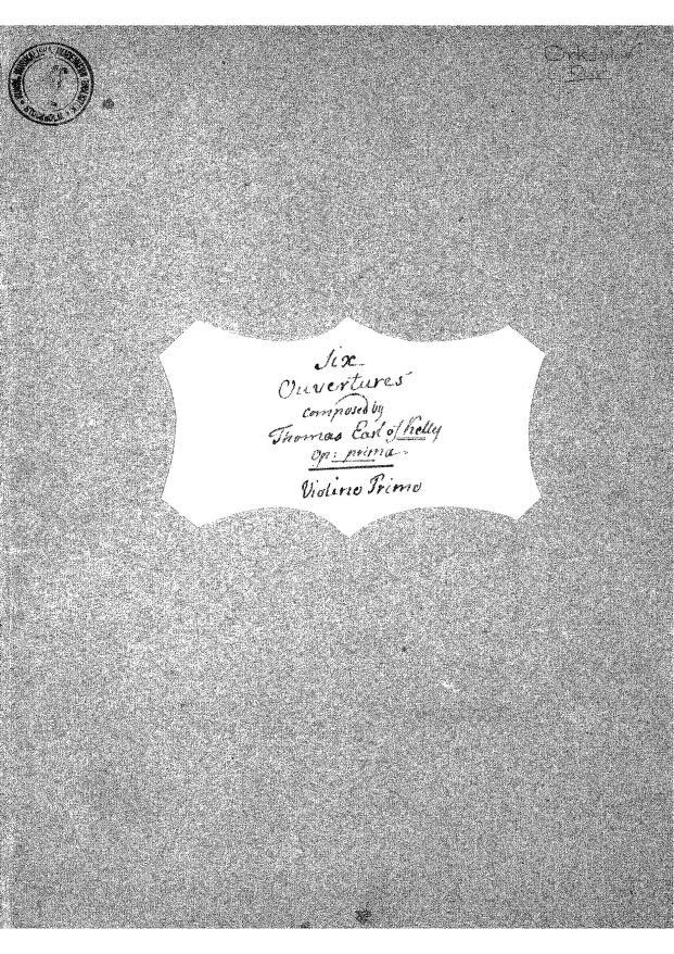 Thomas Alexander Erskine, Earl of Kelly - 6 Overtures, Op.1