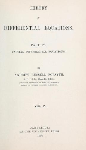 Download Theory of differential equations.