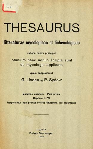 Thesaurus litteraturae mycologicae et lichenologicae