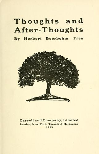 Download Thoughts and after-thoughts.