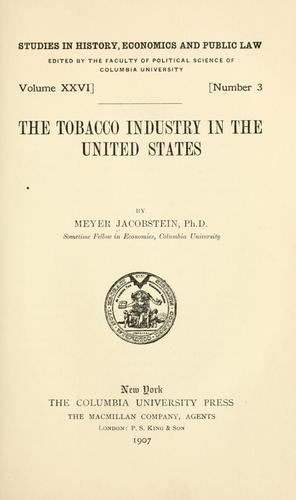 Download The tobacco industry in the United States