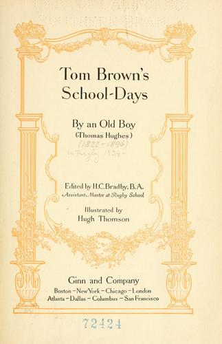 Tom Brown's school days by Hughes, Thomas