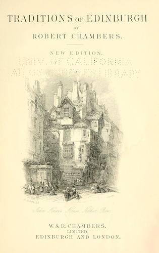 Download Traditions of Edinburgh