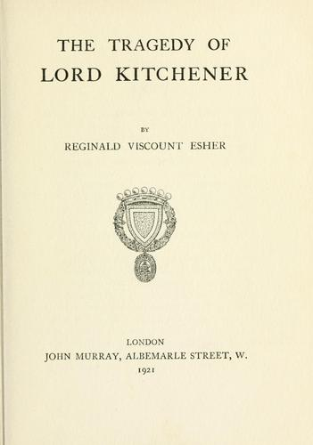 Download The tragedy of Lord Kitchener