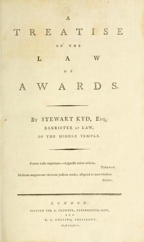 Download A treatise on the law of awards