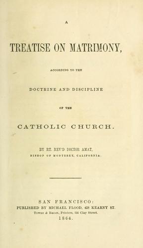 A treatise on matrimony