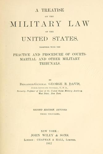 Download A treatise on the military law of the United States