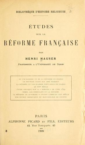 Download Études sur la Réforme française.