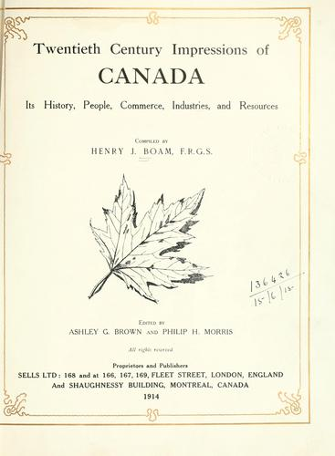 Download Twentieth century impressions of Canada