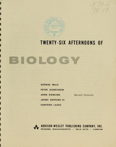 Download Twenty-six afternoons of biology.