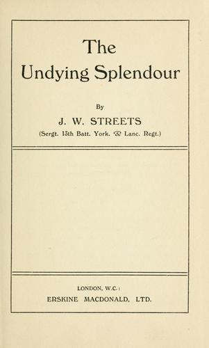 Download The undying splendour