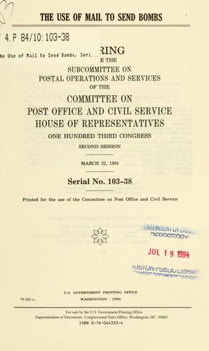 Download The use of mail to send bombs