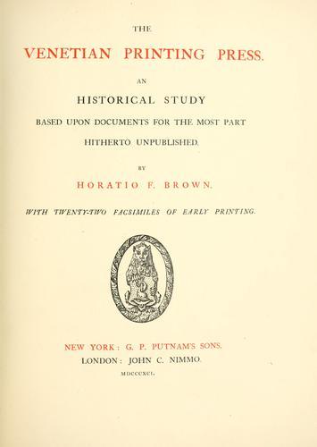 Download The Venetian printing press.