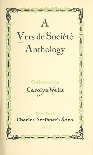 Download A vers de société anthology