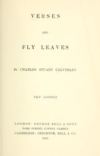Verses and Fly leaves.