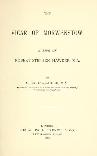 Download The vicar of Morwenstow.