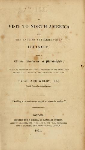 Download A visit to North America and the English settlements in Illinois