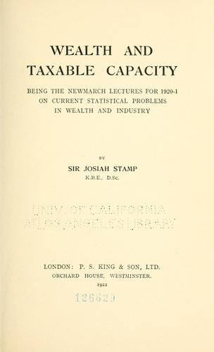Download Wealth and taxable capacity