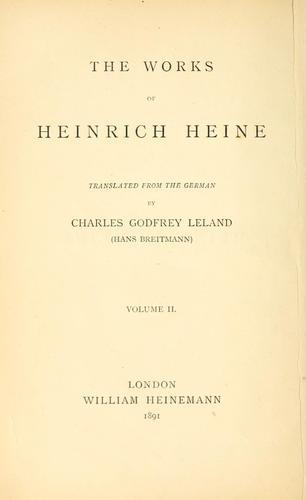 The works of Heinrich Heine