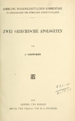 Download Zwei griechische Apologeten.