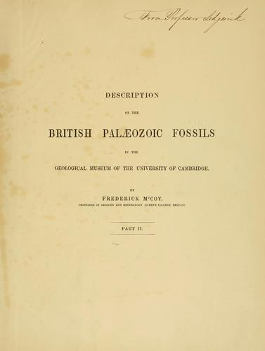 A synopsis of the classification of the British palaeozoic rocks …