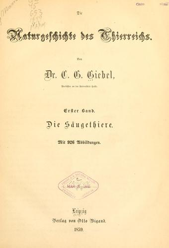 Download Die Naturgeschichte des Thierreichs
