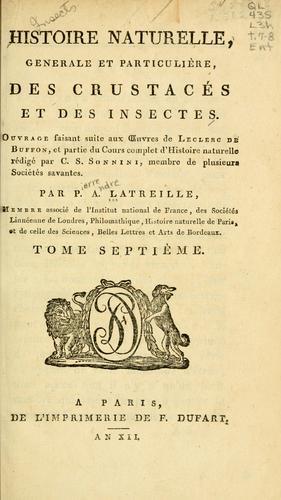 Download Histoire naturelle, générale et particulière des crustacés et des insectes, volumes 7 and 8