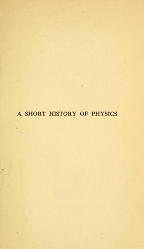 A short history of physics