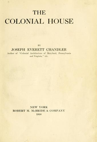 Download The colonial house.