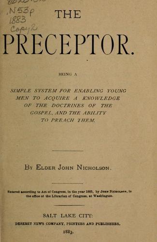 The preceptor