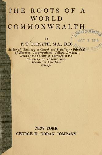 Download The roots of a world commonwealth