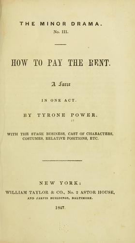 How to pay the rent