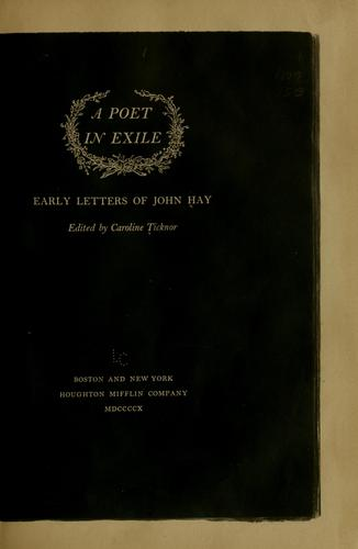 Download A poet in exile
