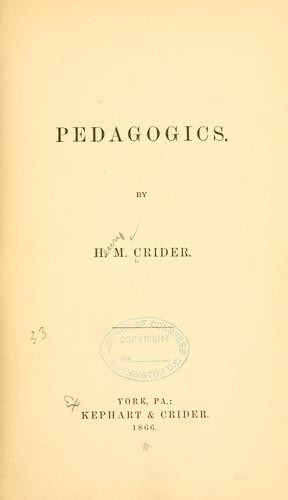 Download Pedagogics.