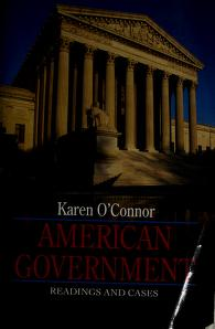 Cover of: American Government | Karen O'Connor