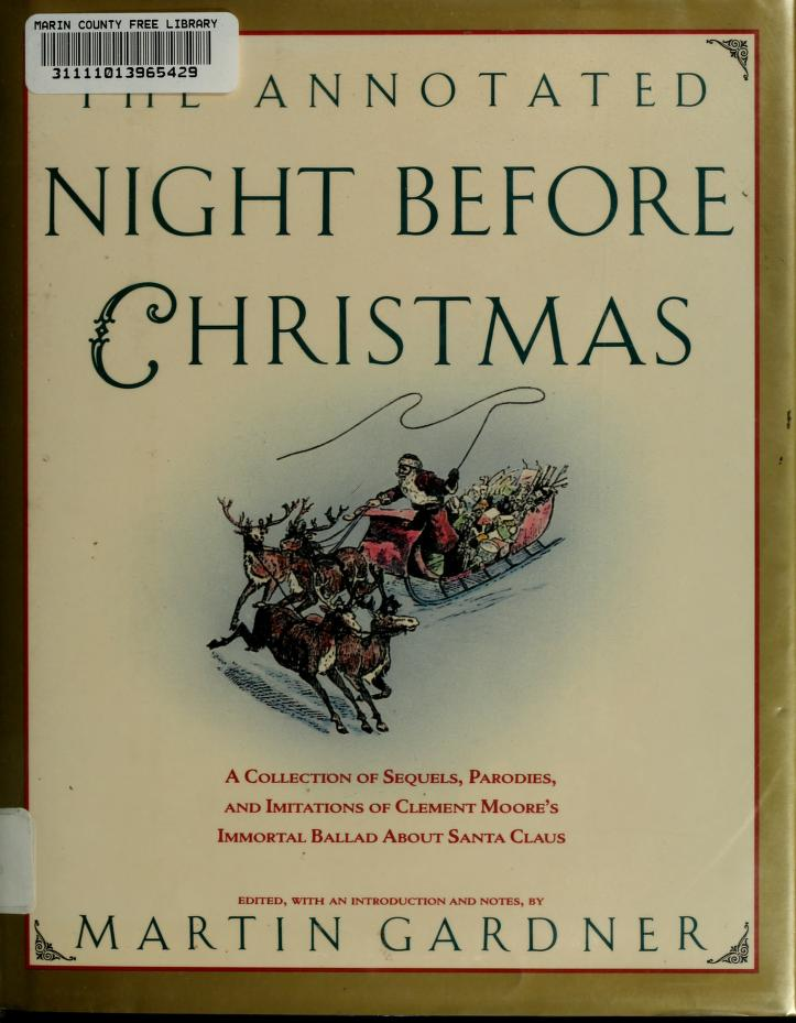 The Annotated Night before Christmas by Martin Gardner