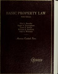 Cover of: Basic property law   Olin L. Browder