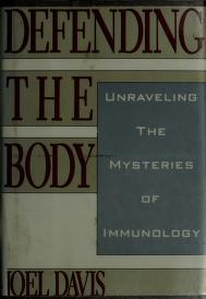 Cover of: Defending the body | Davis, Joel