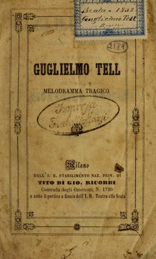 Cover of: Guglielmo Tell | Gioacchino Rossini