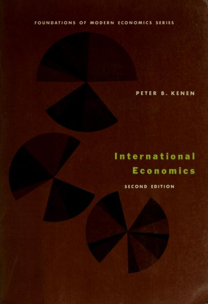 International economics by Peter B. Kenen
