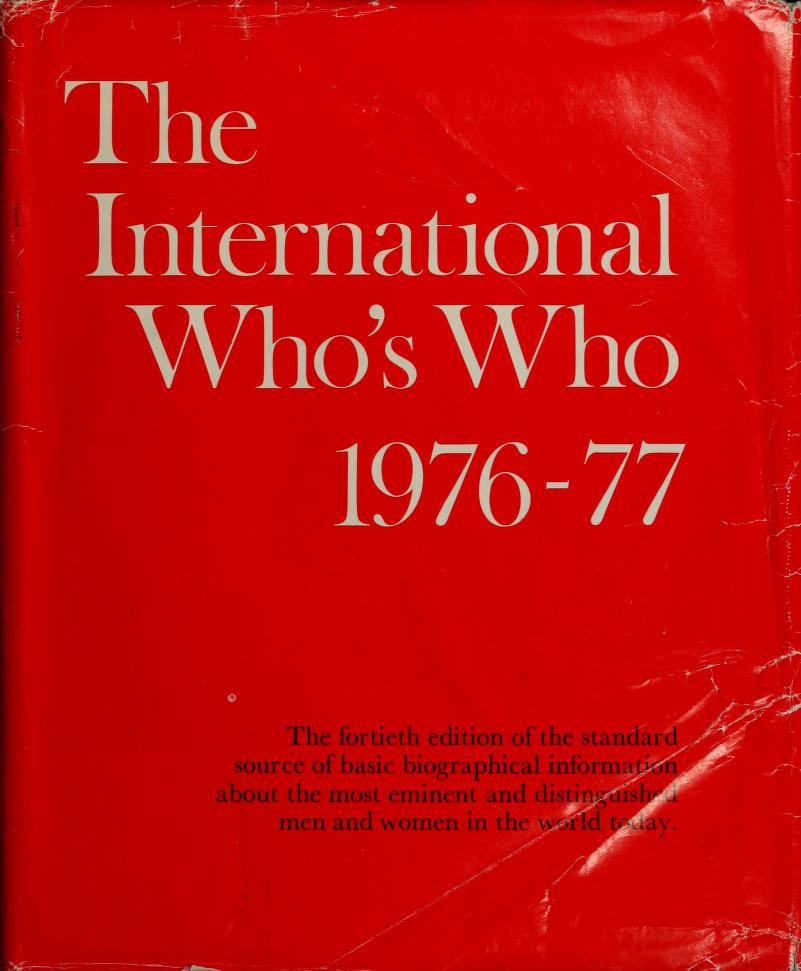 The international who's who by