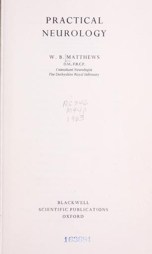 Practical neurology by W. B. Matthews
