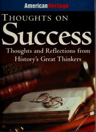 Cover of: Thoughts on success | Forbes Inc