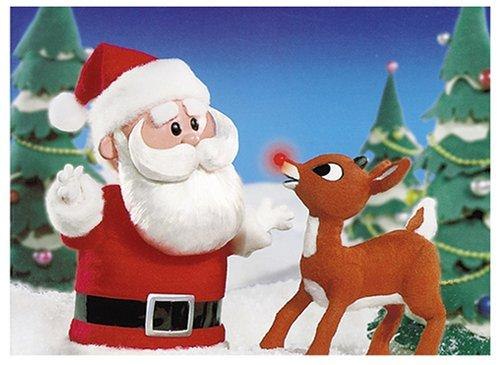 Rudolph & Santa Christmas Cards by Galison/Mudpuppy