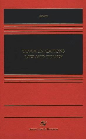 Communications Law and Policy by Jerry Kang