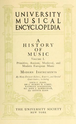 University musical encyclopedia by