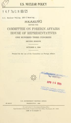 U.S. nuclear policy