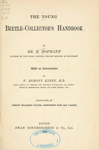 The young beetle-collector's handbook by Ernst Hofmann