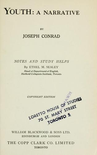 Youth: a narrative by Joseph Conrad