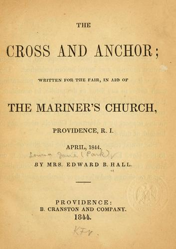 The cross and anchor written for the fair by Louisa J. Hall